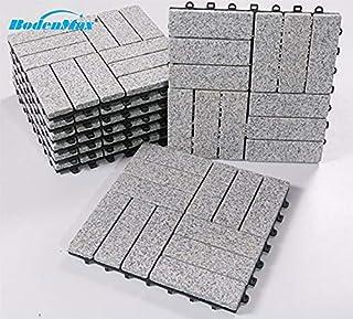BodenMax LLGRA3H-GRY-5 Baldosas de Granito para terraza,