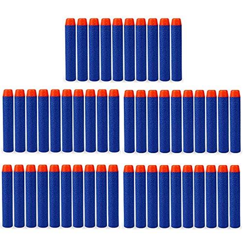 HONGCI Schaumstoffpfeile für Nerf N-Strike Elite Series Blasters Spielzeugpistole, 7,2 cm, Blau, 50 Stück