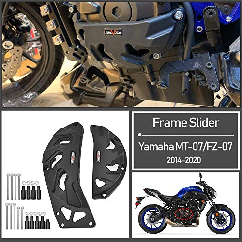 Fayedenicy Frame Slider for 2014-2020 Yamaha MT07 FZ07 Motorcycle Nylon Engine Guard Clutch Case Covers Fairing Crash Protector MT FZ 07 MT-07 FZ-07 Accessories Parts 2015 2016 2017 2018 2019