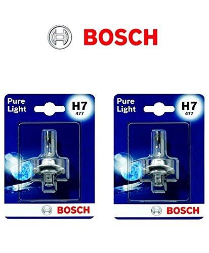 2x Bosch Pure Light H7 55W 12V Halogen Lampen Set original weiß 1987302777 Abblendlicht Fernlicht Nebelscheinwerfer