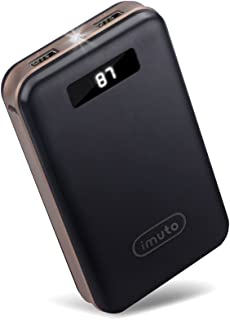 iMuto 20000mAh Portable Charger Compact Power Bank External Battery Pack LED Digital Display Smart Charge for iPhone X XR 8 7 6S Plus, Samsung Galaxy S10, S9, Note10, Tablets More