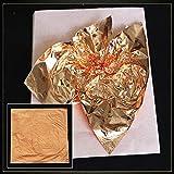 Vergoldungsbögen Künstlerische Gestaltung Papier Gold Imitation Folie Aluminiumbleche Für 100 STÜCKE DIY Handwerk Wanddekoration 14 14 CM