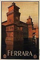 ポスター フェラーライタリアヴィンテージ旅行 A4サイズ [インテリア 壁紙用] 絵画 アート 壁紙ポスター