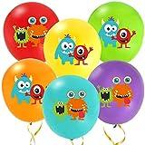 KREATWOW Monster Balloons - Monster Bash Latex Balloons - Decoraciones para la Fiesta temática Monster o cumpleaños