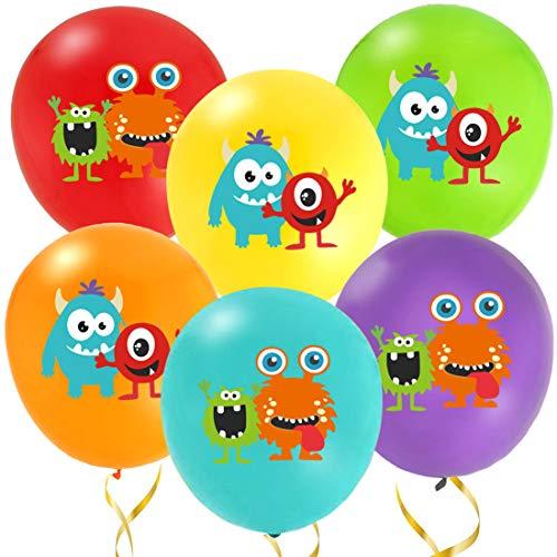 Kreatwow Monster Luftballons - Monster Bash Latex Luftballons - Dekorationen für Monster Motto Party oder Geburtstag