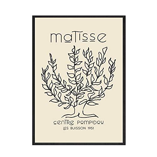Póster Retro de Matisse Picasso, pintura de arte de pared, impresión de planta abstracta, muebles para el hogar, sin marco, pintura decorativa en lienzo F 60x90cm