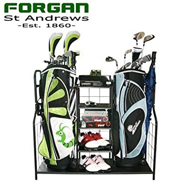 Forgan of St Andrews Dual Golf Bag Rack / Organizer - Ideal for the garage