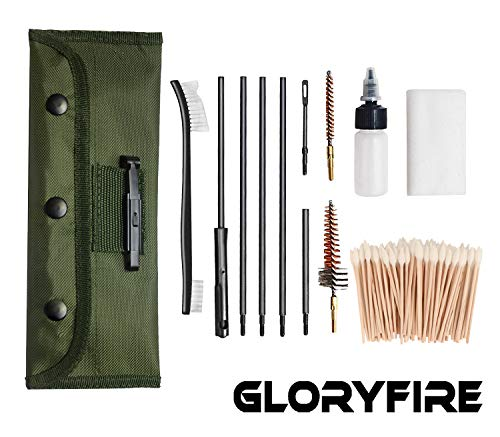 GLORYFIRE Universal Gun Cleaning Kit Hunting Rifle Handgun Shot Gun Cleaning Kit for All Guns...