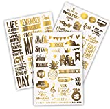 Limited Edition| Gold Scrapbook Stickers Love Stickers|...