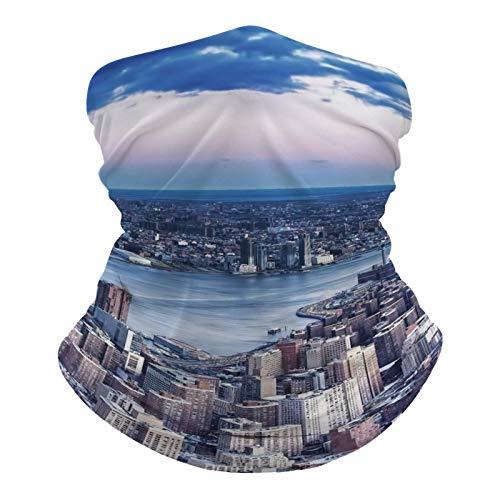 happygoluck1y Nueva York City (1) Polaina de cuello Mascarillas para la cara, transpirable, polvo, viento, sol, protección UV, bandana para exteriores, ciclismo, motocicleta, hombres y mujeres