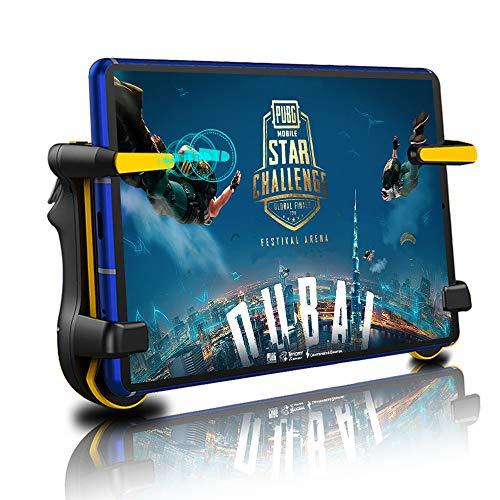 【iPad連射版】 荒野行動 PUBG Mobile iPadコントローラー 連射 1秒10発連射 ゲームパッド 高感度 高精度 射撃ボタン 優れたゲーム体験 人間工学設計 エイムアシスト iPad & タブレット 等対応
