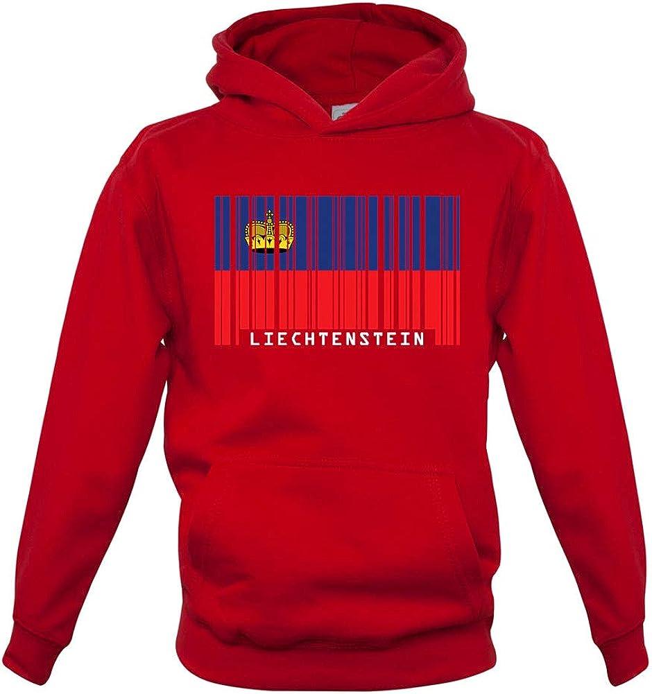 Dressdown Liechtenstein Barcode Style Flag - Childrens/Kids Pullover Hoodie