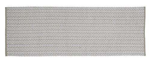 Home Basics HM18P woonkamertapijt, katoen, olijfgroen, 70 x 200 cm