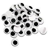 TOAOB 200 Piezas 30 mm Ojos Móviles Negros de Plástico Autoadhesivo Utilizados para Manualidades...
