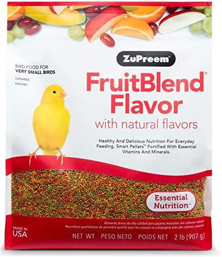 ZuPreem - Alimento para Aves Muy Pequeñas FruitBlend   Pienso Canarios y Pinzones - 900 g