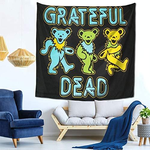 YUQIN Hip Hop Grate-ful Dead Dancing Bear Art Tapestry Wall Hanging Decor for Bedroom Dorm Living Room Home Blanket Picnic Mat