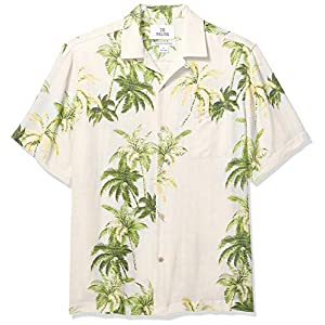 Amazon Brand – 28 Palms Men's Relaxed-Fit Silk/Linen Tropical Hawaiian Shirt