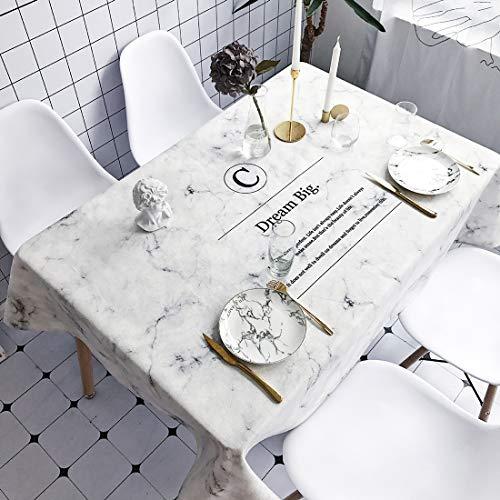 Dream Pattern - Mantel antipolvo, impermeable, antiquemaduras, rectangular, algodón y lino, 180 x 140 cm