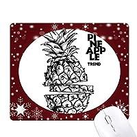果実はpineappleトレンドラインを描画する オフィス用雪ゴムマウスパッド
