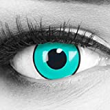 MeralenS farbige blaue schwarze Crazy Fun gaara Jahres Kontaktlinsen. Perfekt zu Halloween, Karneval, Fasching oder Fasnacht Cosplay mit gratis Kontaktlinsenbehälter.