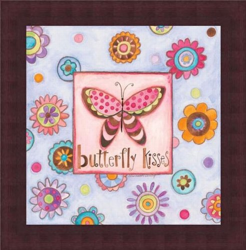 Printfinders Wall Decor by Deming Seattle Mall Butterfly Bernadette New popularity Kisses