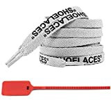 Deporte cordones Impreso cordones plana cordones Trainer Para la zapatilla de deporte Gris-Negro Imprimir, 120cm