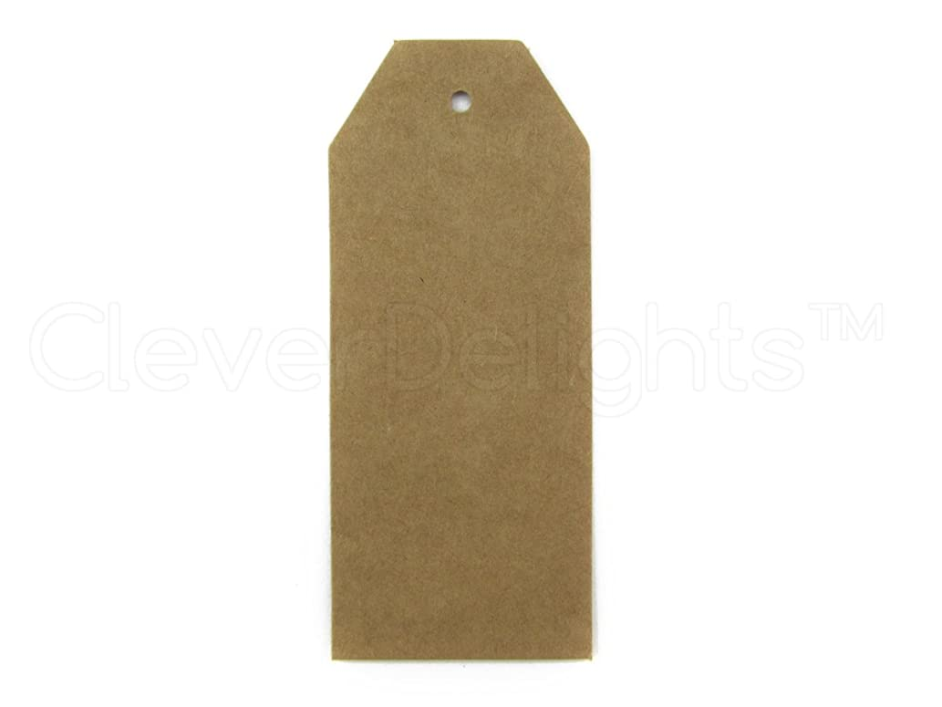 CleverDelights 100 Large Kraft Price Tags - 3.5