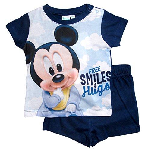 Mickey Mouse Kollektion 2018 Schlafanzug 68 74 80 86 92 Jungen Shorty Pyjama Shortie Disney Maus (Blau, 68-74)