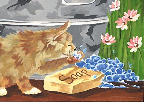 Mini peinture par numéro Kit 5 « X 7 »-bain temps amis/Junior