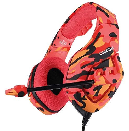 Fone Headset Gamer Onikuma K1b Camuflado Red
