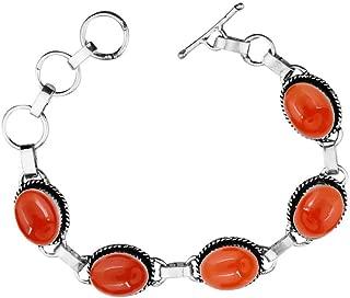 Best carnelian silver bracelet Reviews