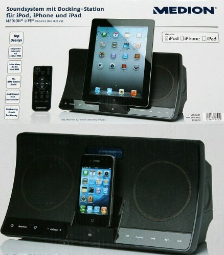 NEU # MEDION Soundsystem mit Docking-Station für iPad, iPhone & iPod
