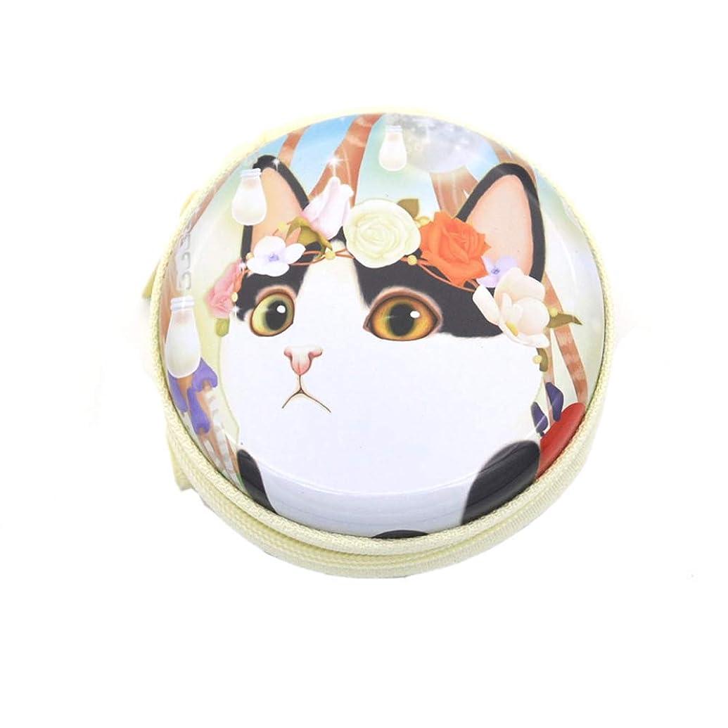 メンター見えない神Chinashow エッセンシャル オイル キャリング ケース - かわいい 猫 プリント エッセンシャル オイル スモール ストレージ オーガナイザー フォーム インサート と 7本 ボトル付き(2ml) ピンク