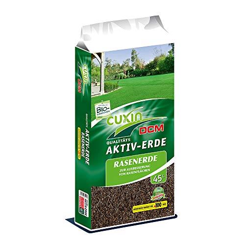 Cuxin Bio Rasenerde 45 L⎜zur schnellen Reparatur von Kahlstellen und Nachsaate ✅ + Gratis Bodenanalyse Gutschein (45 L)