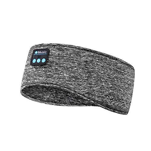 Schlafkopfhörer Bluetooth 5.0, Schlaf Strinband Kopfhörer Headband Schlafmaske, kabellose Sportskopfhörer Musik schlafen Stirnband für Sport Training,Joggen, Yoga, Schlaflosigkeit,Reisen