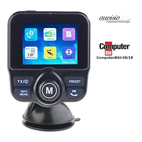 auvisio DAB+ Zigarettenanzünder: DAB+/DAB-Empfänger, FM-Transmitter, Bluetooth, Freisprecher, MP3, USB (DAB Radio Zigarettenanzünder)