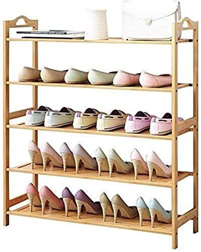 QZMX Estante de Zapatos Bastidores Zapatero Zapatero Zapato, 3 de 6 Plantas 100% de bambú Natural del Organizador del almacenaje Zapatero Pasillo de Entrada del Dormitorio Sala Estante