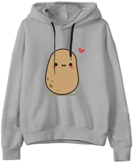 Womens Hoodies F_Gotal Womens Girls Cute Rabbit Bunny Ears Long Sleeve Casual Hooded Sweatshirt Pullover Tops Blouse