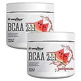 Ironflex BCAA 2:1:1 Pulver   200g je Dose (insg. 400g)   Geschmack: Wassermelone / watermelon  ...