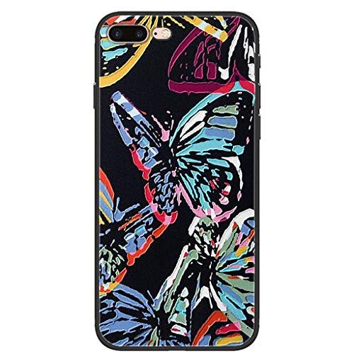 LTao-case smpd per Apple iPhone 8 Plus Custodia PTU per Cellulare in Silicone Morbido 7