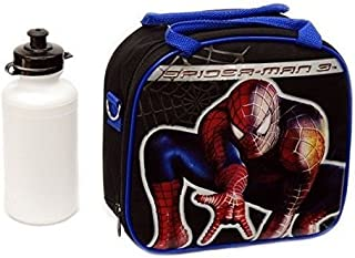 New Marvel Spider-man Lunch Box Bag with Shoulder Strap and Water Bottle!! Black by 5StarService