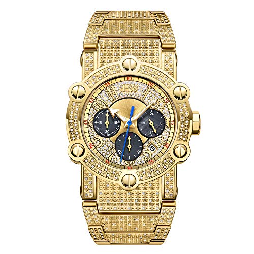 JBW Men's Phantom 1.00 ctw Diamond Chronograph 18K Gold-Plated Stainless Steel Watch, 42MM