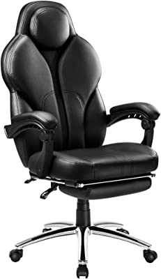 LANGRIA Swivel Office Chair Racing Gaming Chair Ergonomic High-Back Faux Leather E-Sports