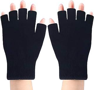 Asudaro Gants chauffants USB unisexe gants chauffants USB demi-doigt complet gants dordinateur portable lavables chauds gants dhiver chauds tricot/és gants chauffants /électriques
