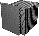 BalanceFrom 1 Inch Extra Thick Puzzle Exercise Mat with EVA Foam Interlocking Tiles for MMA, Exercise, Gymnastics and Home Gym Protective Flooring, 72 Square Feet (Gray)