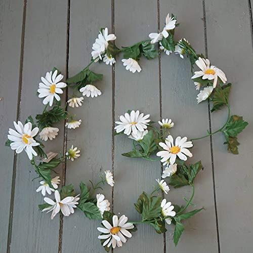 Artificial White Daisy Flower Garland - 175cm - Summer Flower Garlands