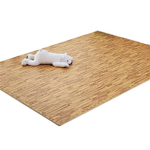 Read About GHGMM Rug Crawling Mat Play Mat, Imitation Wood Grain Foam Environmental Protection Non-S...