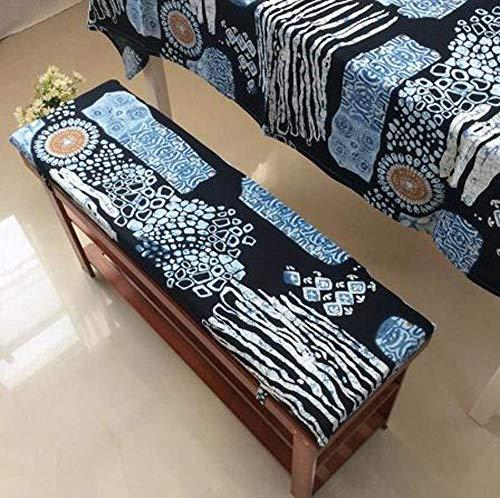 DanChen - Cuscino per panca da esterni, per interni, con laccetti di fissaggio, per mobili da giardino, 2 o 3 posti, tappetino di ricambio per materasso da viaggio, 120 x 35 cm