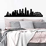 Vinyl Wall Art Decal - Los Angeles Skyline - 16' x 65' - Unique Modern California American USA West Coast City Home Bedroom Living Room Store Shop Mural Indoor Outdoor Silhouette Adhesive Decor