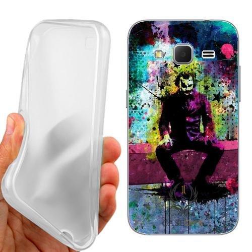 Custodia Cover Case The Joker per Samsung Galaxy Core Prime G360F G360H